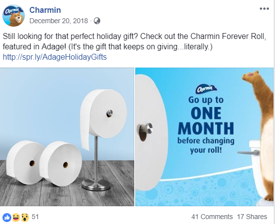 Charmin's Facebook Post