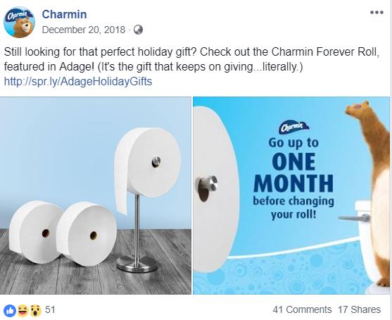 Charmin's Facebook Post