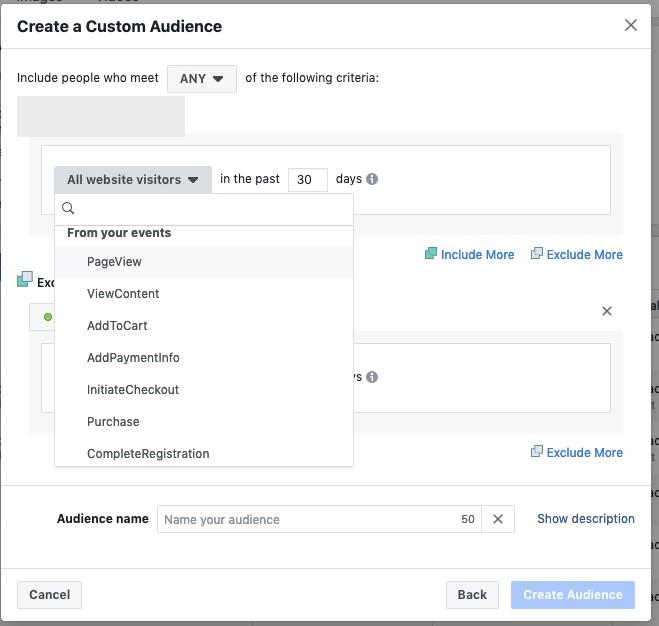 Facebook E-Commerce Custom Audience