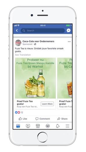 Coca Cola Facebook Ad